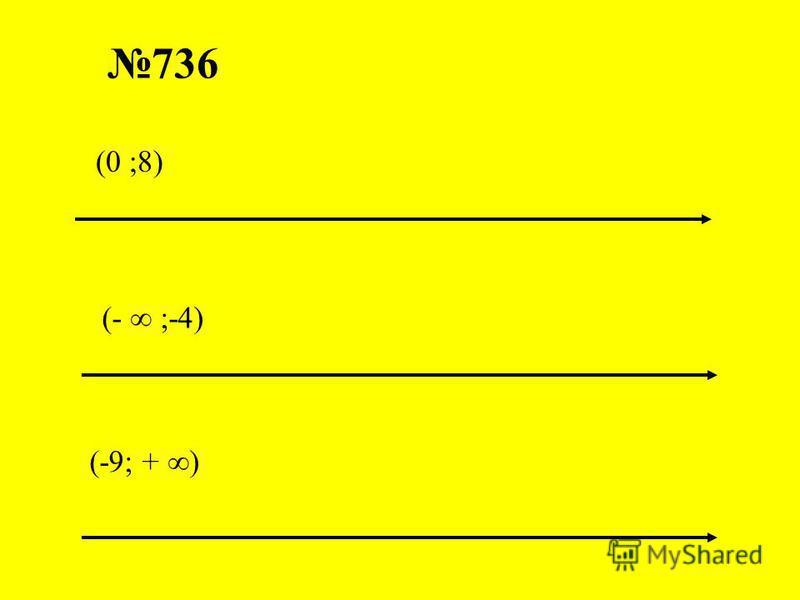 736 (- ;-4) (-9; + ) (0 ;8)
