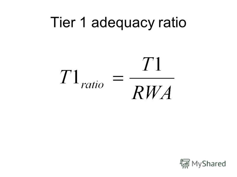 Tier 1 adequacy ratio