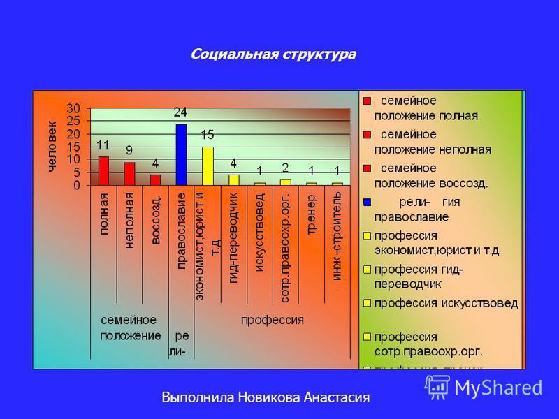 Социальная структура Выполнила Новикова Анастасия