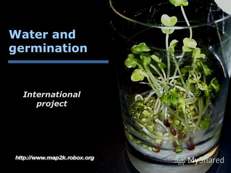 Water and germination International project