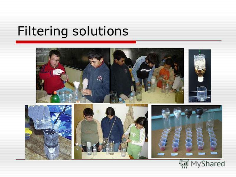 Filtering solutions