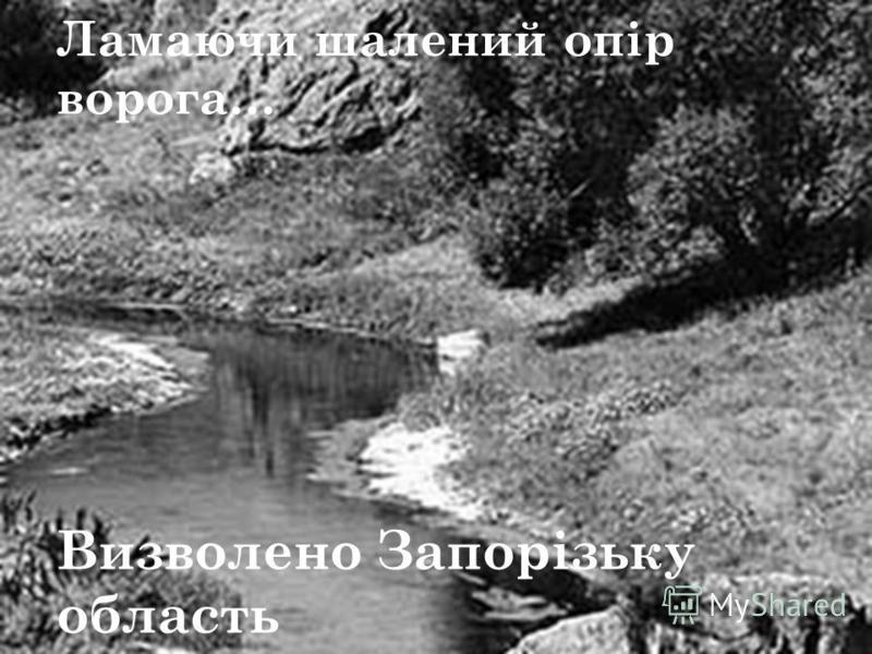 Ламаючи шалений опір ворога… Визволено Запорізьку область