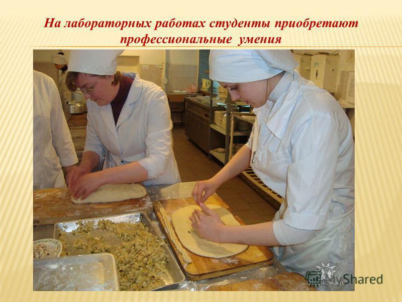 На лабораторных работах студенты приобретают профессиональные умения