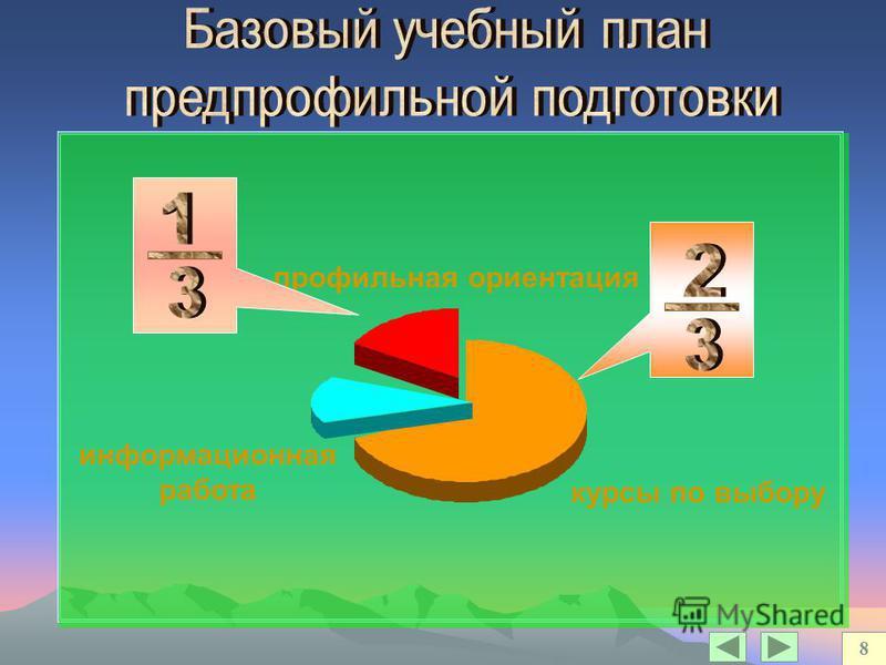 курсы по выбору информационная работа профильная ориентация 8