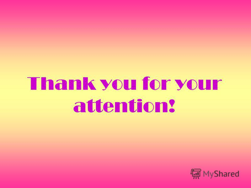 Thank you for your attention!