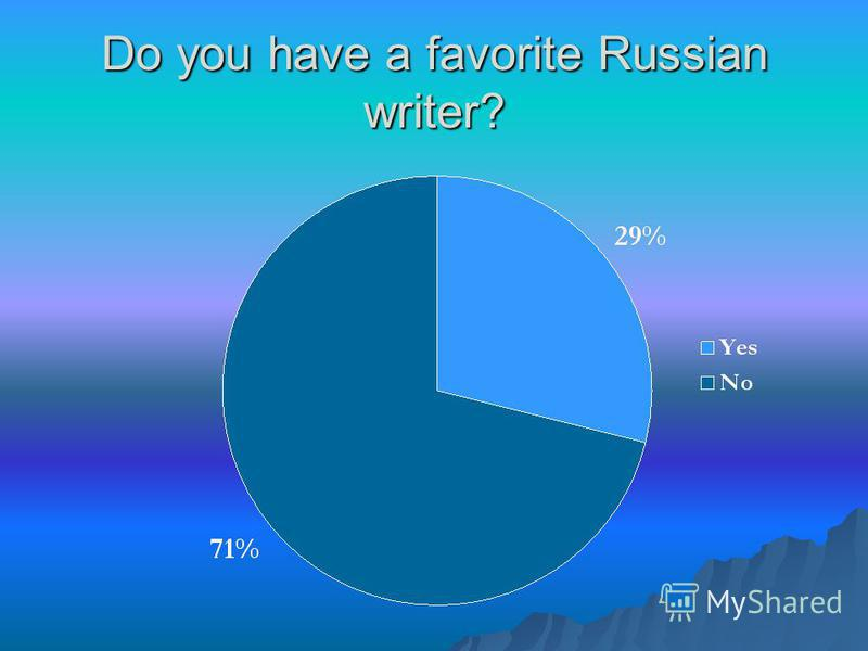 Do you have a favorite Russian writer?