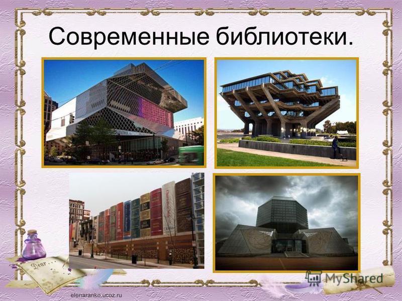 Современные библиотеки.