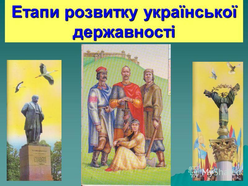 Етапи розвитку української державності