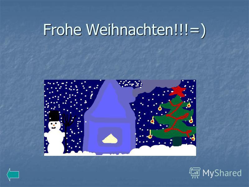 Frohe Weihnachten!!!=)