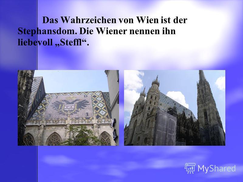 Das Wahrzeichen von Wien ist der Stephansdom. Die Wiener nennen ihn liebevoll Steffl.