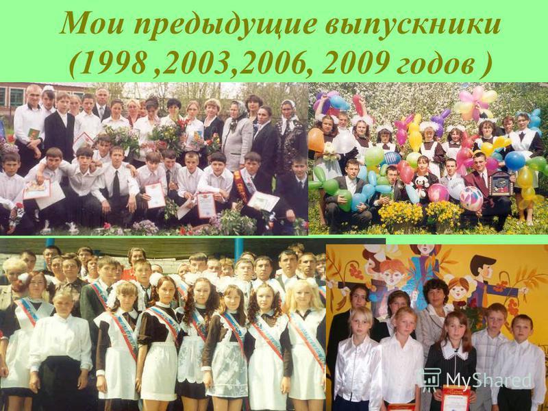 Мои предыдущие выпускники (1998,2003,2006, 2009 годов )