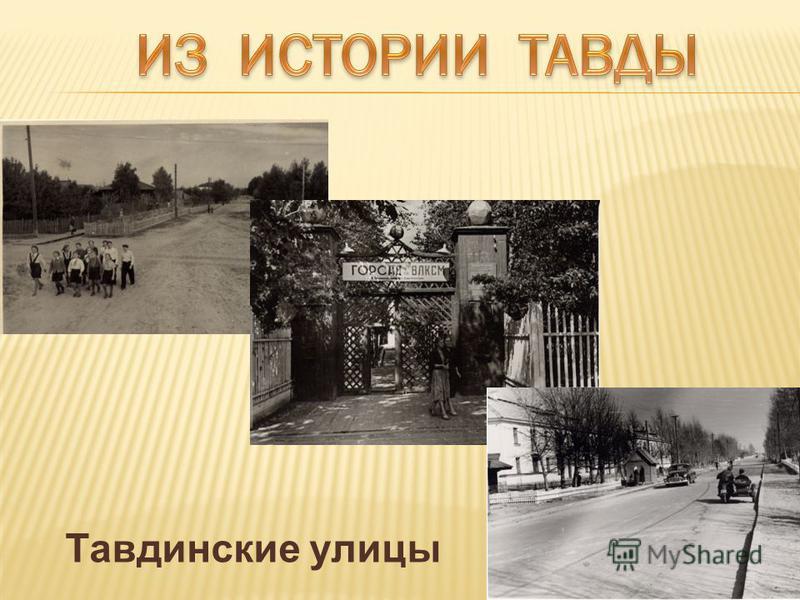 Тавдинские улицы