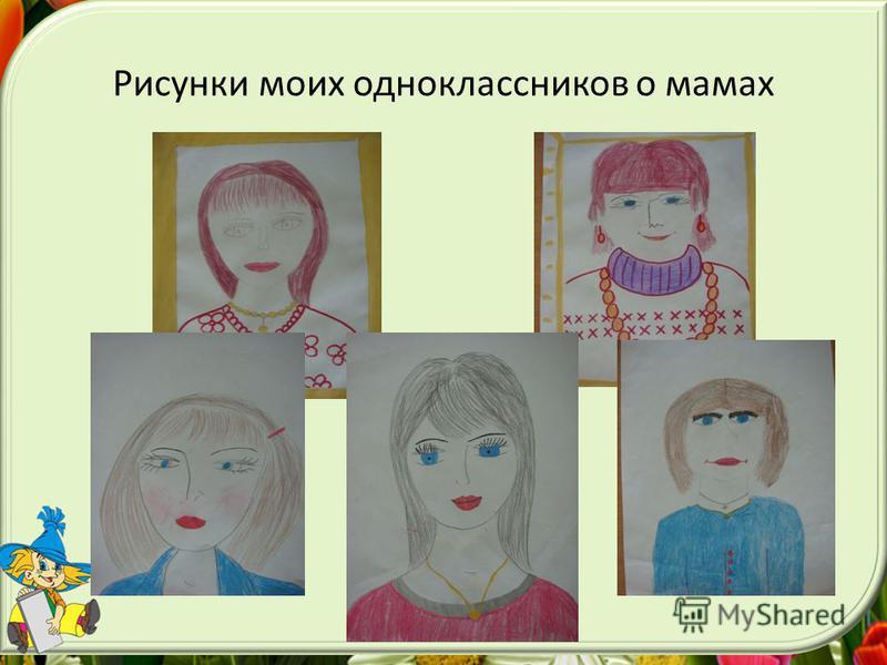 Рисунки моих одноклассников о мамах