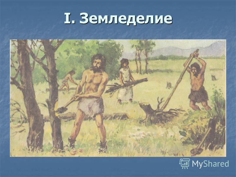 I. Земледелие