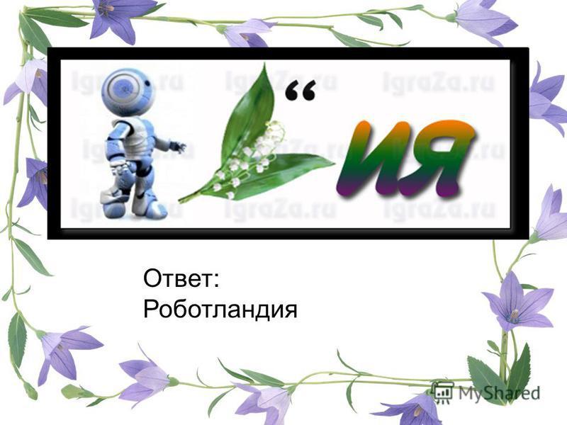 Ответ: Роботландия