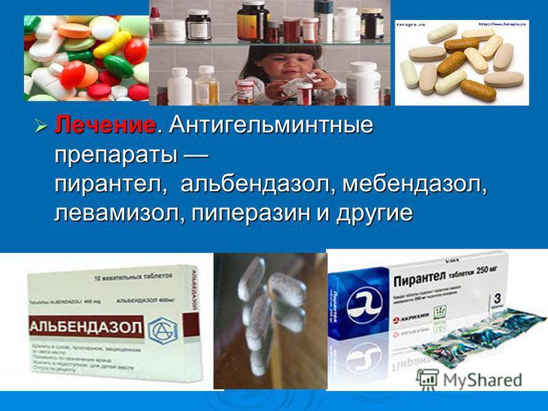 Лечение. Антигельминтные препараты пирантел, альбендазол, мебендазол, левамизол, пиперазин и другие Лечение. Антигельминтные препараты пирантел, альбендазол, мебендазол, левамизол, пиперазин и другие