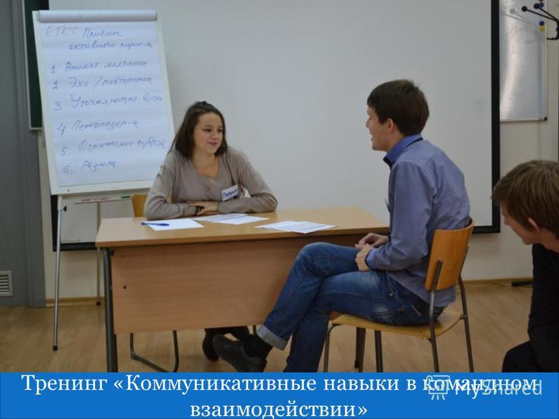 гшг Тренинг «Коммуникативные навыки в командном взаимодействии»