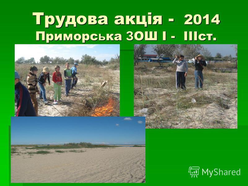 Трудова акція - 2014 Приморс ь ка З ОШ I - IIIст.