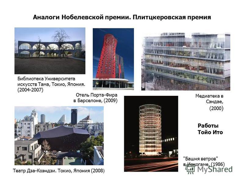 Аналоги Нобелевской премии. Плитцкеровская премия Работы Тойо Ито Театр Дза-Коэндзи. Токио, Япония (2008 )