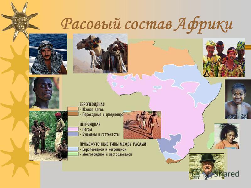 Расовый состав Африки