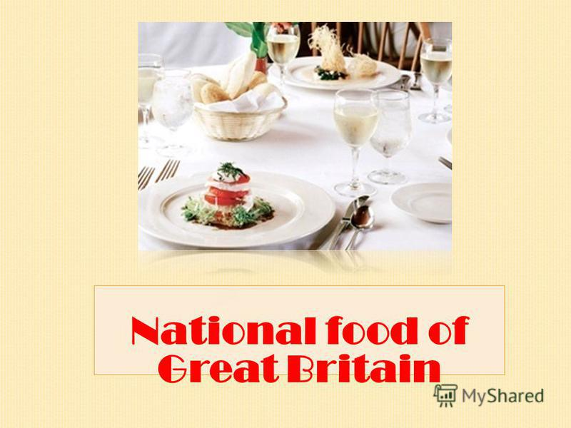 National food of Great Britain