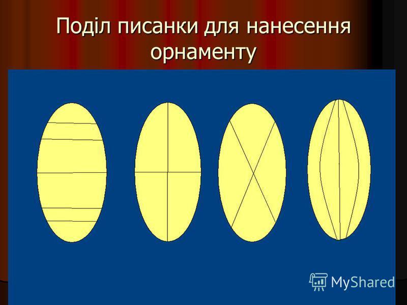 Поділ писанки для нанесення орнаменту