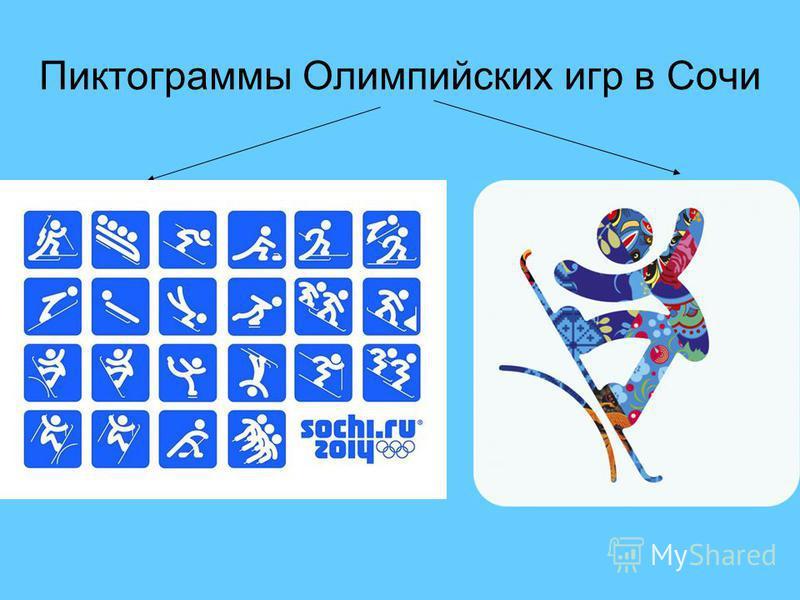 Пиктограммы Олимпийских игр в Сочи