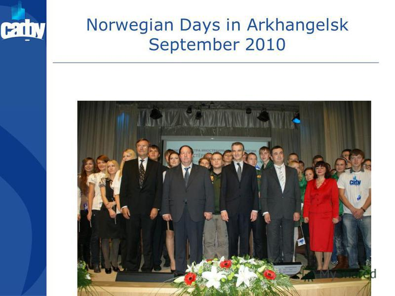 Norwegian Days in Arkhangelsk September 2010