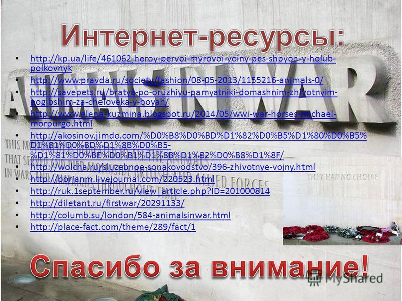 http://kp.ua/life/461062-heroy-pervoi-myrovoi-voiny-pes-shpyon-y-holub- polkovnyk http://kp.ua/life/461062-heroy-pervoi-myrovoi-voiny-pes-shpyon-y-holub- polkovnyk http://www.pravda.ru/society/fashion/08-05-2013/1155216-animals-0/ http://savepets.ru/