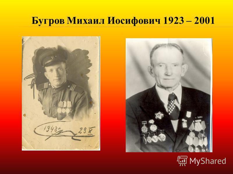 Бугров Михаил Иосифович 1923 – 2001