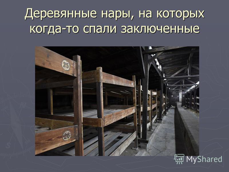 Деревянные нары, на которых когда-то спали заключенные