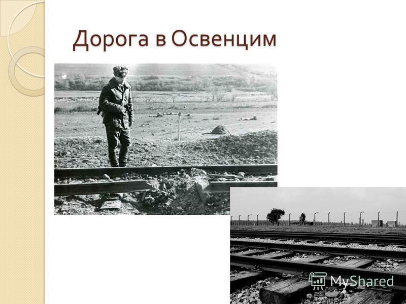 Дорога в Освенцим Дорога в Освенцим