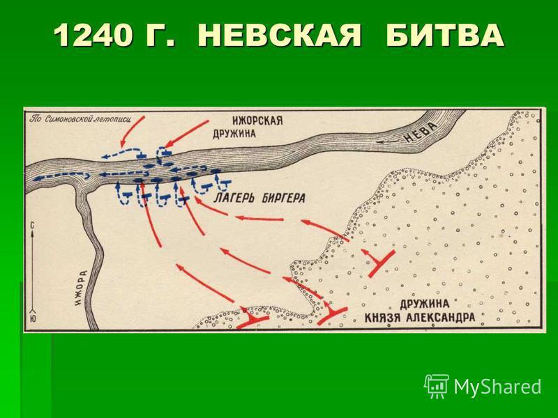 1240 Г. НЕВСКАЯ БИТВА