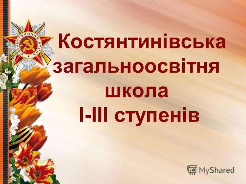 Костянтинівська загальноосвітня школа І-ІІІ ступенів