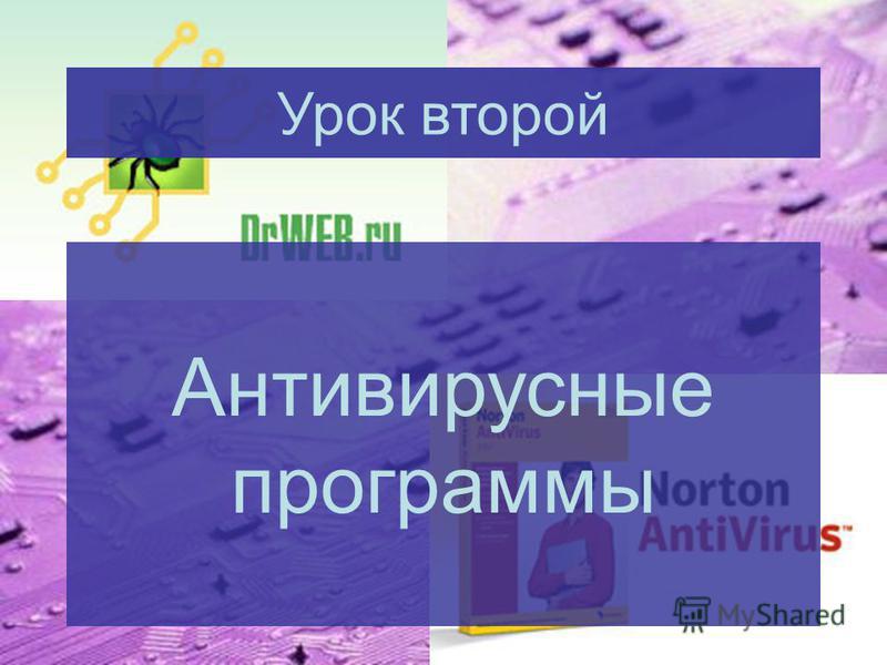 Антивирусные программы Урок второй