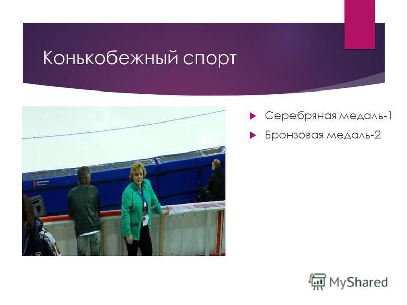 Конькобежный спорт Серебряная медаль-1 Бронзовая медаль-2