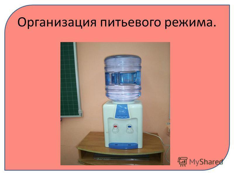 Организация питьевого режима.