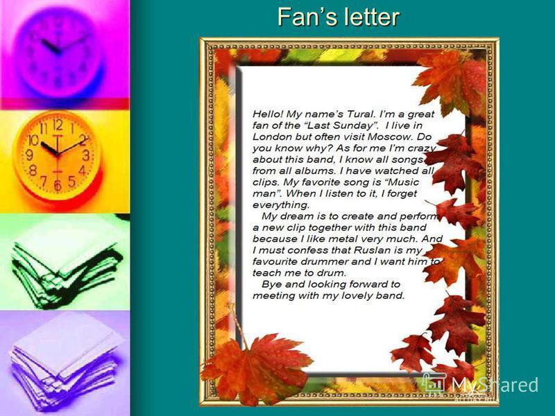 Fans letter Fans letter