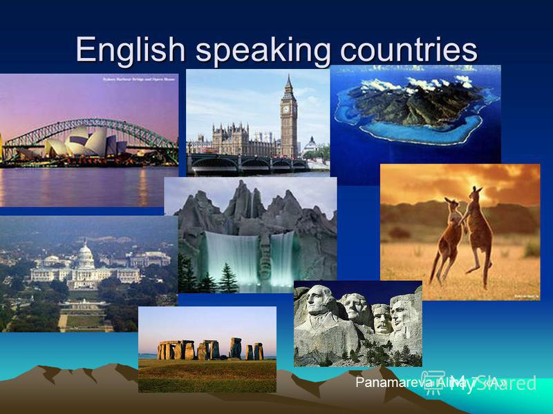 English speaking countries Panamareva Alina 7 «А»