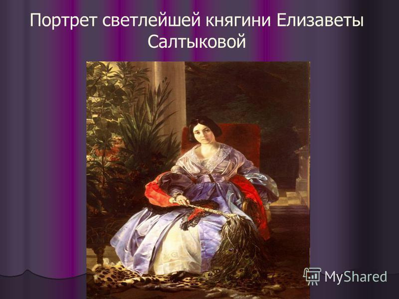 Портрет светлейшей княгини Елизаветы Салтыковой
