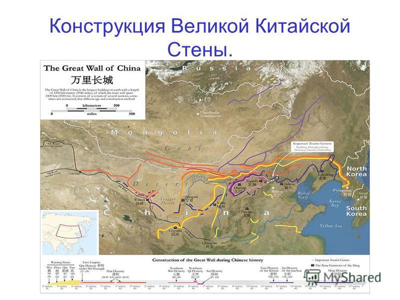Конструкция Великой Китайской Стены.
