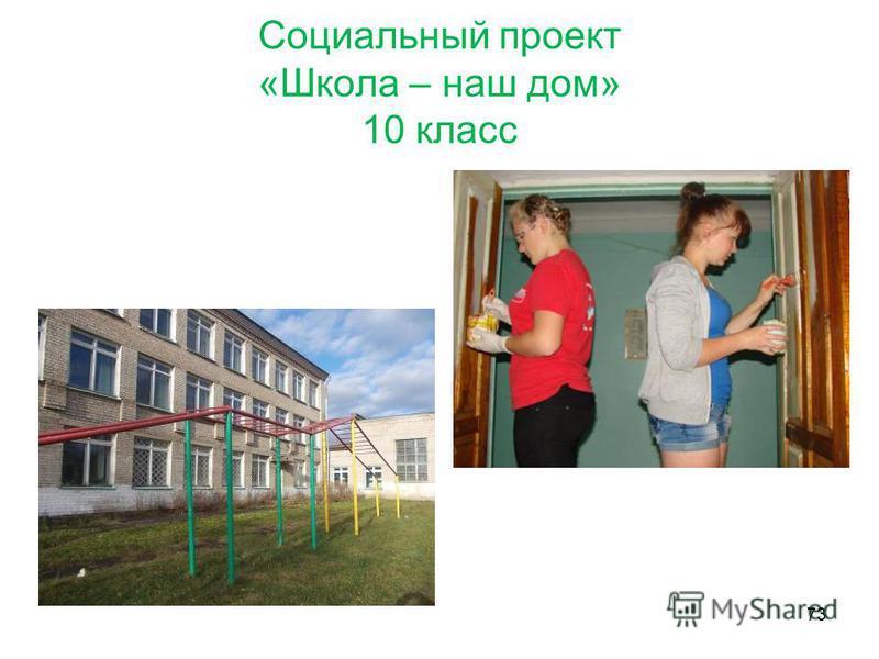 Социальный проект «Школа – наш дом» 10 класс 73