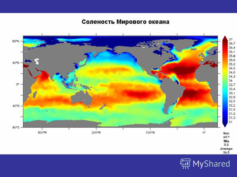 ocean water salinity at equator Salinity is low near the equator because precipitation is so high very high latitudes can also decreases in salinity where sea ice melts and freshens the water it can also be trace by the colour of water of the sea or ocean blue with less and green with high salinity.