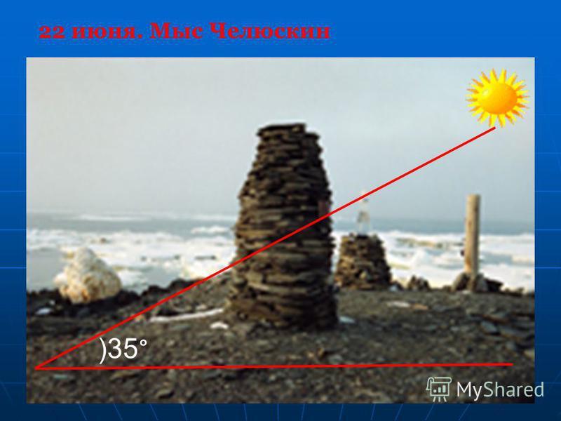 )35 ° 22 июня. Мыс Челюскин