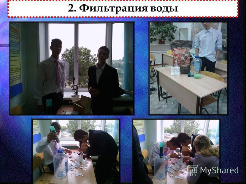 2. Фильтрация воды