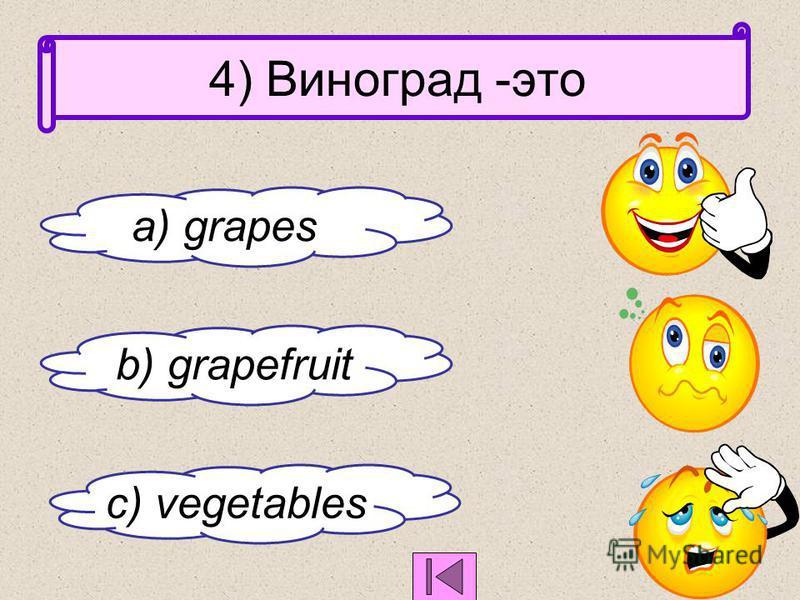 3) Honey -это c ) мед b) ветчина a ) сахар