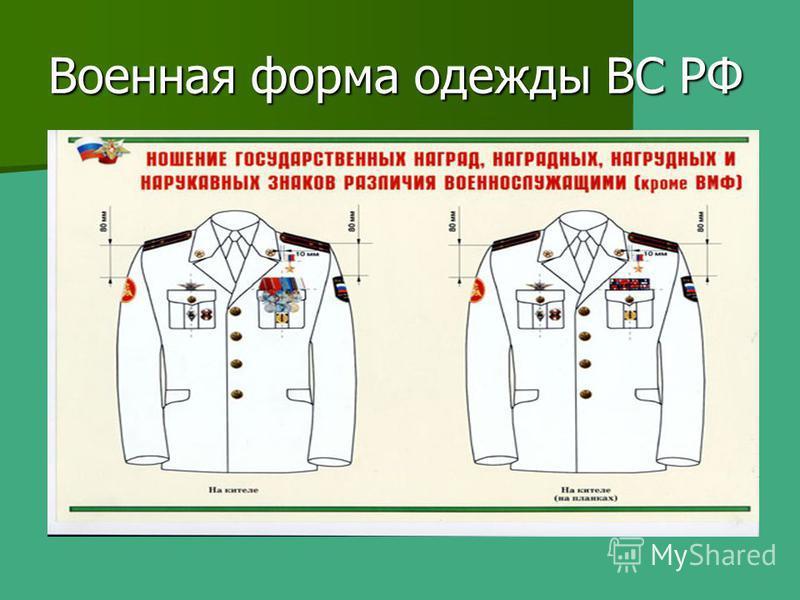 Военная форма одежды ВС РФ