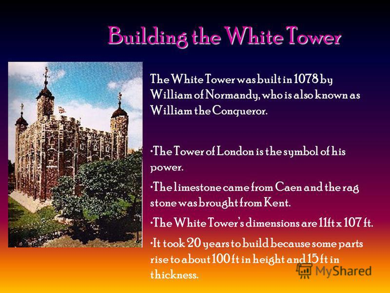 The history. The making of the Tower. The Legends. The Crown Jewels. The Tower of London Done by: Kononenko Eugenie and Shamaev Maxim