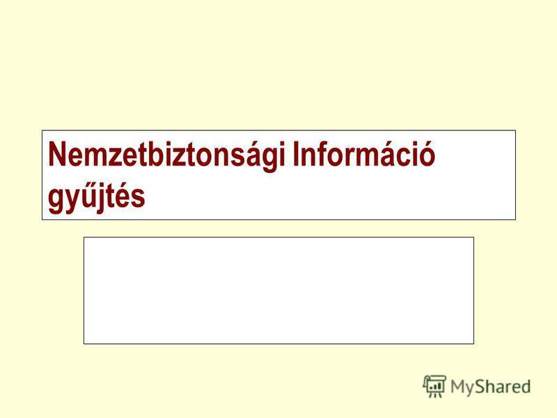 Nemzetbiztonsági Információ gyűjtés