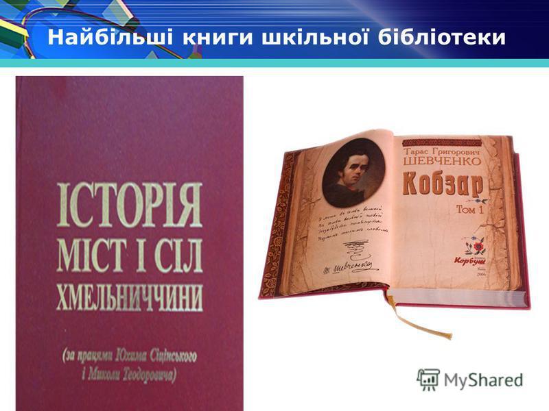 www.themegallery.com Найбільші книги шкільної бібліотеки
